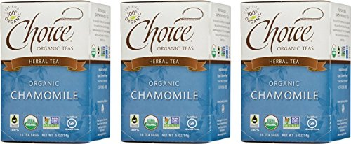 Choice Organic Fair Trade Caffiene Free Chamomile Herbal Tea, 3 Count