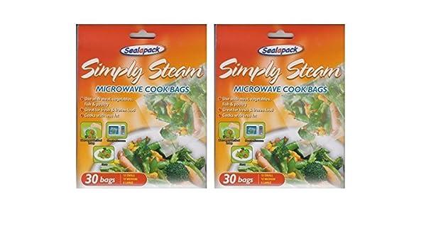 Sealapack - 2 paquetes de 30 bolsas de cocción de vapor para ...
