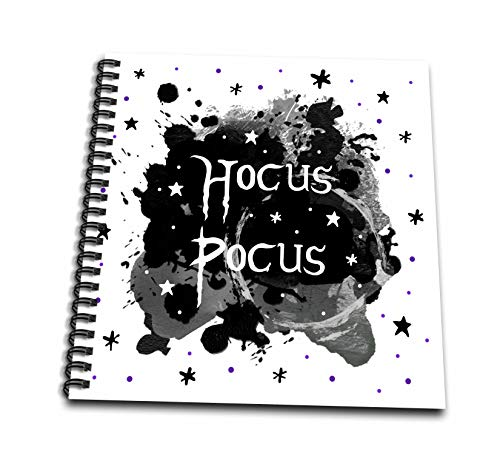 3dRose InspirationzStore - Occasions - Hocus Pocus - spooky Halloween saying Witchy Witches Spell - witch fun - Drawing Book 8 x 8 inch (db_317313_1)]()