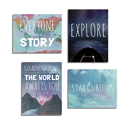 Explore Collection of Four 11x14 Wall Art Prints, Typography, Nursery Decor, Kid's Wall Art Print, Kid's Room Decor, Gender Neutral, Motivational Word Art, Inspirational Decor for Kids, Playroom Decor