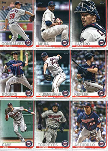 2019 Topps Complete (Series 1 & 2) Baseball Minnesota Twins Team Set of 25 Cards: Jake Odorizzi(#63), Jorge Polanco(#69), Miguel Sano(#116), Byron Buxton(#158), Kohl Stewart(#177), Addison Reed(#193), Eddie Rosario(#258), Mitch Garver(#277), Jose Berrios(#302), Logan Morrison(#324), Ervin Santana(#335), Stephen Gonsalves(#355), Adalberto Mejia(#383), Jason Castro(#406), Target Field(#424), Max Kepler(#438), Willians Astudillo(#448), plus more