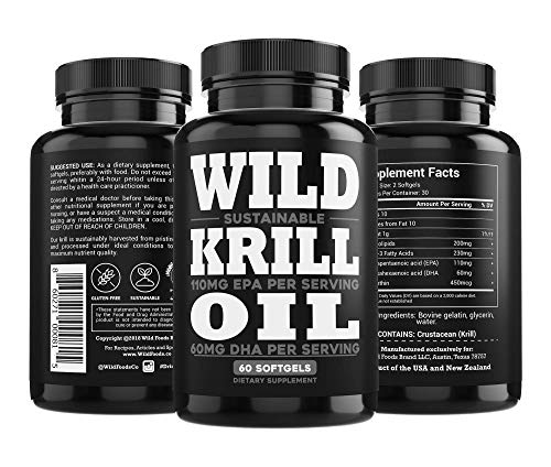 Wild Krill Oil (Antarctic) - Double Strength, 60 Softgels - 1000mg of Antarctic Krill Oil with Omega-3s EPA, DHA, Essential Phospholipids and Astaxanthin - Heavy Metal Tested! (6 Bottles) by Wild Foods (Image #7)