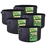VIVOSUN 5-Pack 20 Gallons Heavy Duty Thickened Nonwoven Fabric Pots Grow Bags with Handles