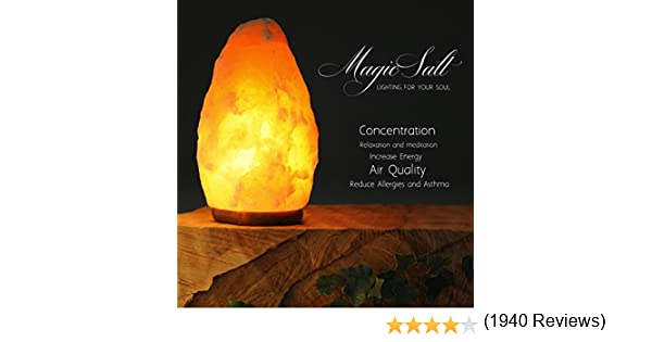 Lámpara de Sal del Himalaya - MAGIC SALT ® Lighting For Your Soul - (2/3 Kg.): Amazon.es: Hogar