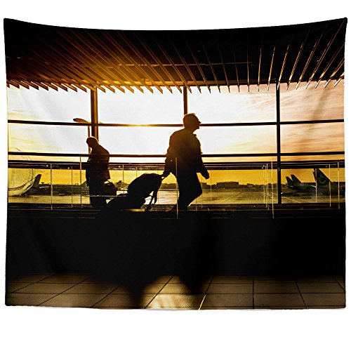 Westlake Art - Airport International - Wall Hanging Tapestry - Picture Photography Artwork Home Decor Living Room - 68x80 Inch ()