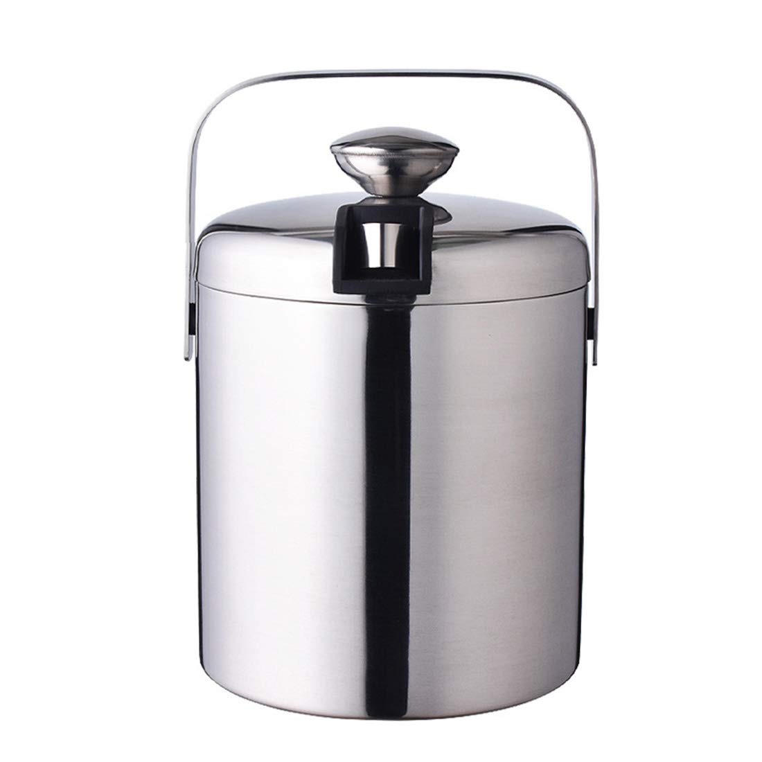 Enerhu 1300ML Ice Bucket for Parties Insulated with Lid Stainless Steel with Handle