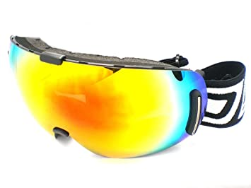 147cefb744 Dirty Dog Goggles 54090 Red Blizzard Frameless Visor Goggles Lens Mirrored  Size