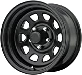 Trailmaster TM5-5165 TM5 Steel Wheel; Size 15X10 ;Bolt Pattern: 5x4.5 ;Back Space 3.75 in.; Finish Gloss Black;