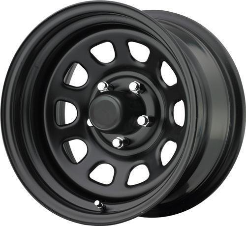 Trailmaster TM5-5865 TM5 Steel Wheel; Size 15X8 ;Bolt Pattern: 5x4.5 ;Back Space 3.75 in.; Finish Gloss Black; Back Black Finish