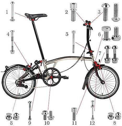 A C E Juego Completo de Pernos y Tuercas de Titanio Bicicleta ...