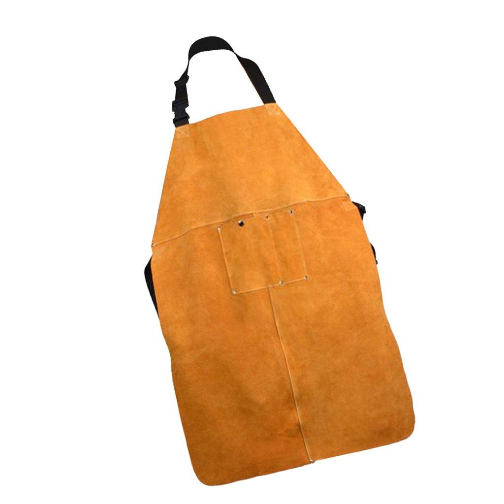 Flameer 90cm Welding Apron Welder Heat Insulation Protection Carpenter Tool Brown