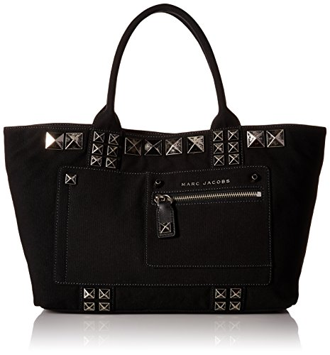 Marc Jacobs Canvas Chipped Studs Tote, Black