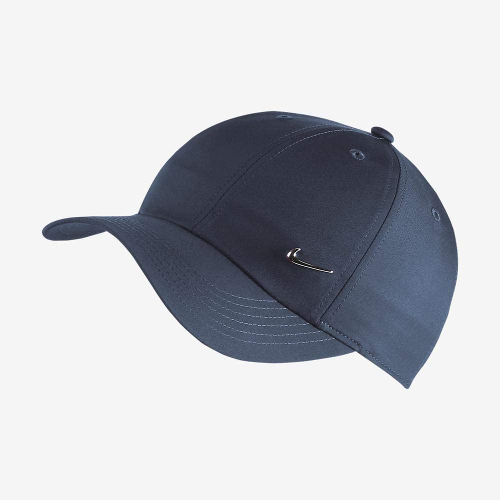 Nike Y Nk H86 Cap Metal Swoosh Hat, Unisex niños, Azul (Obsidian ...