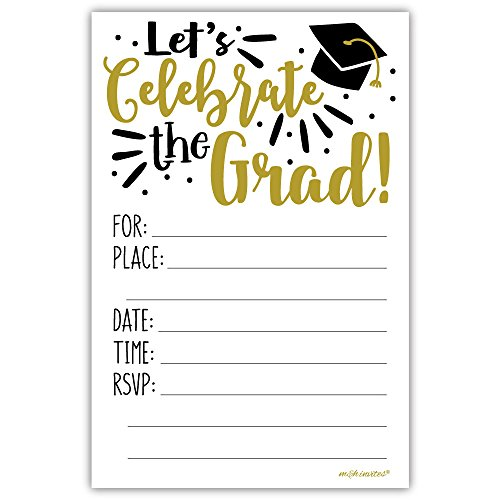 Celebrate the Grad | Graduation Invitations with Envelopes (20 Count) (Grad Invite)