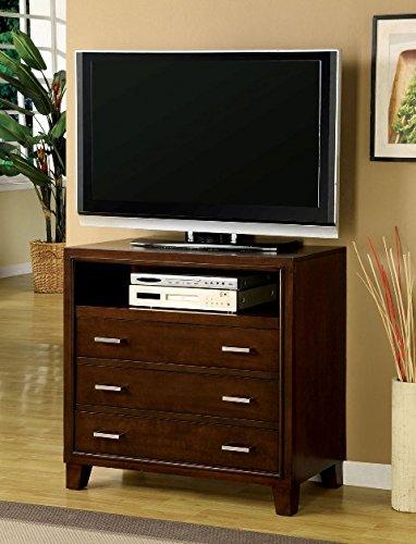 Furniture of America Enlarta Contemporary 3 Drawer Media Chest – Cherry