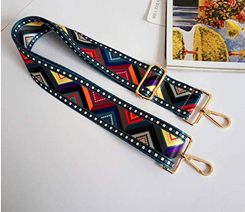 Abuyall Adjustable Canvas Bag Strap Woven Shoulder Bag Strap Floral Geometrie Panelled Lattice Solid Striped Ethnic Crossbody Handle Bag Replacement Adjustable Belt L 53.15 Pt27