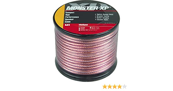 Amazon.com: Monster XP Clear Jacket Compact Speaker Cable MKII: Home ...