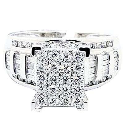 1cttw Diamond Wedding Ring 3 in 1 Style Engagement & Bands White or Yellow Gold(i2-i3 Clarity)