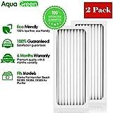 Aqua Green Hamilton Beach True Air 04383 04384 04385 990051000 Comparable Air Purifier Filter 2-Pack