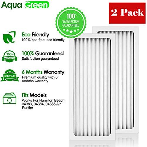 Aqua Green fits Hamilton Beach True Air 04383 04384 04385 990051000 Comparable Air Purifier Filter by AQUA GREEN
