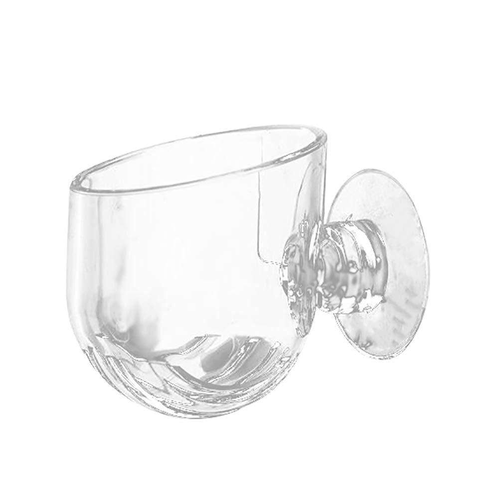 Bluelans Plant Glass Cup Pot with 2X Suction Cups for Fish Tank Aquarium Aquascaping Transparent