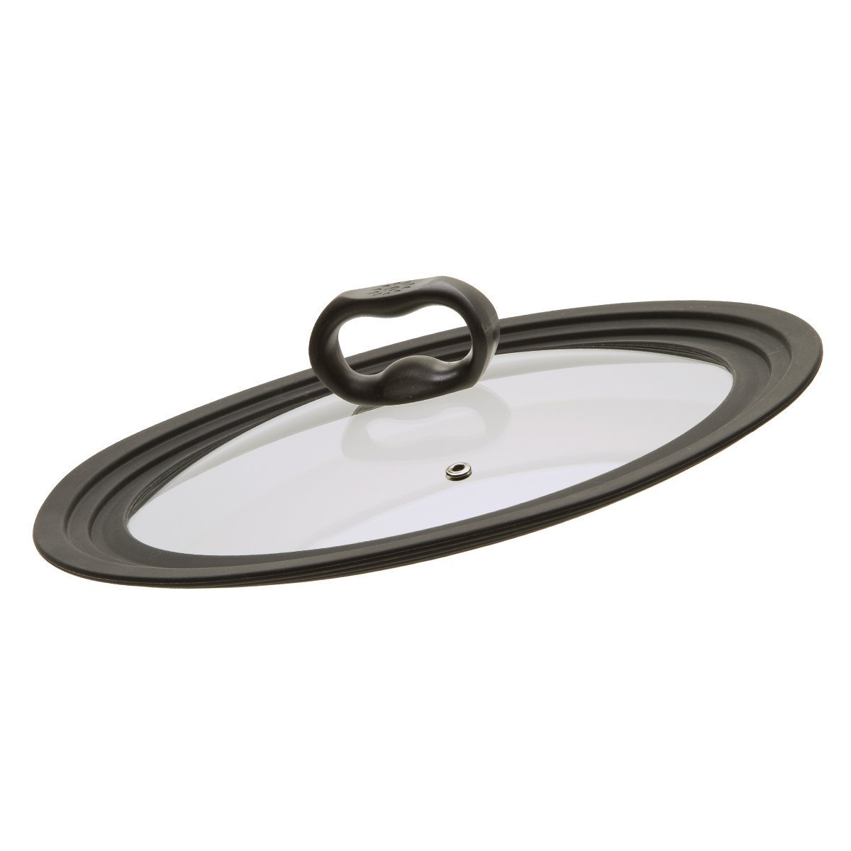 Ecolution Universal Lid for Pots and Pans, Vented Tempered Glass - Graduated Rims fit 9.5 inch, 10 inch, 12 inch Cookware