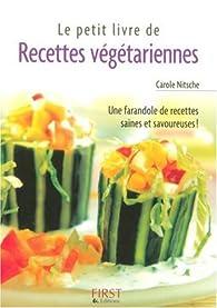 Recettes végétariennes par Carole Nitsche