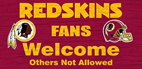 (Washington Redskins Wood Sign - Fans Welcome 12x6)