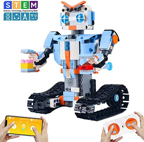 CENOVE STEM Toys for 8+ Year Old Build a Robot Kit Remote Control Robot Engineering Building Toys Intelligent Gift for Boys and Girls