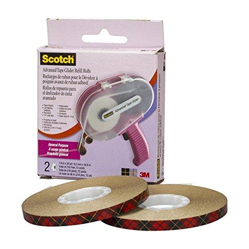 (Scotch 085-R ATG Advanced Tape Glider Refill Rolls, 1/4-Inch by 36-Yard, 2-Rolls/Box, 6-Pack)