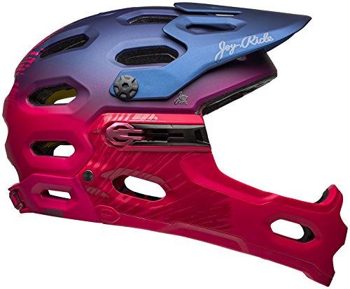 Bell Super 3R MIPS Joy Ride Bike Helmet - Women's Matte/Gloss Navy/Cherry Fibers Small
