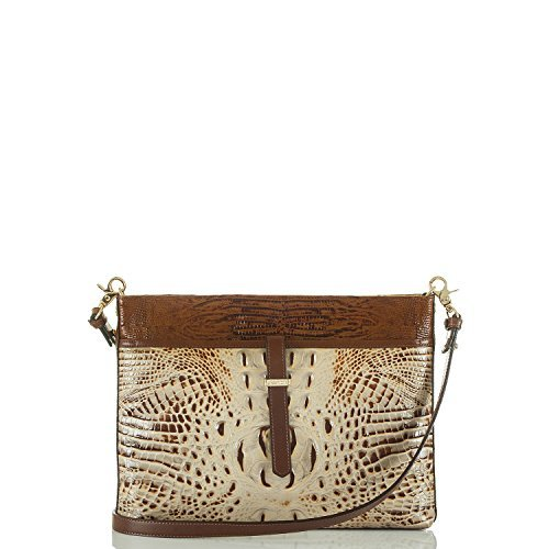 Tri Clutch Zip - Brahmin All Day Convertible Crossbody (Brulee)