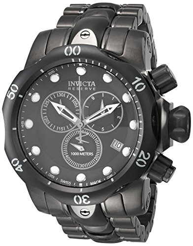 Invicta Men's 5729 Reserve Collection Black and Gunmetal Ion-Plated Chronograph Watch -  0084383605729