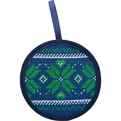 Alice Peterson Stitch-Ups Fair Isle Blue Needlepoint Ornament Kit 7038