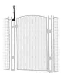 EZ-Guard 4' Tall Self Closing / Self Latching Pool Fence Gate -White