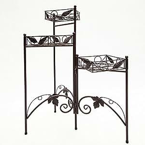 SY Metal Planta De Flor Planta de estante soporte cuadrado bandejas plegable planta decoración casa de estante flor estante