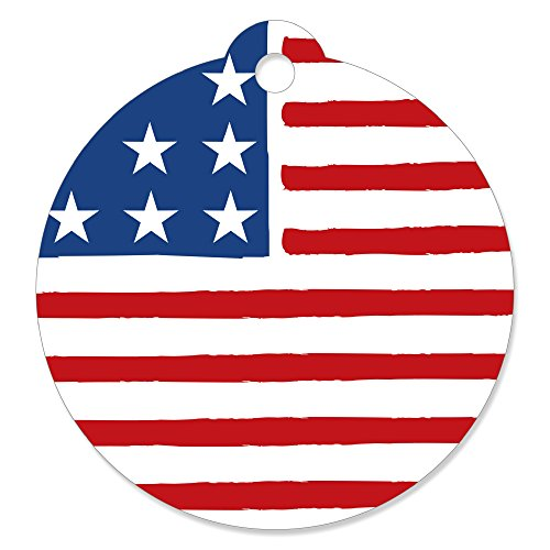 Stars & Stripes - Memorial Day USA Patriotic Party Favor Gift Tags (Set of 20)