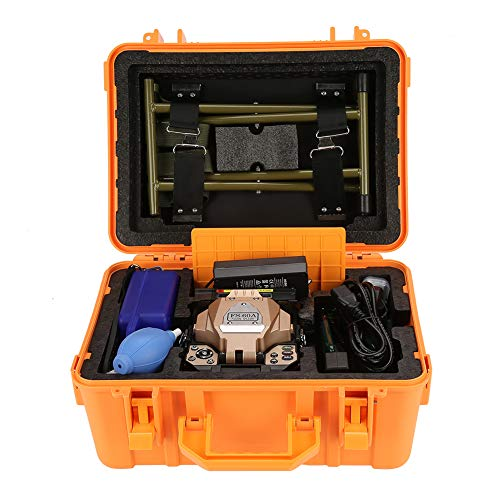(FS-60A Fiber Optic Splice Machine,FTTH Fiber Fusion Splicer Kit,with Digital LCD,LED Lighting,Cleaver 100V-240V 50/60Hz US Plug (A))