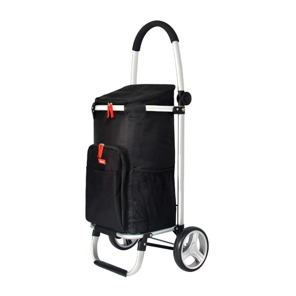 Byrhgood Luggage Trolley - Old Shopping Cart - Portable Trolley - Large Capacity - Black