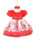 SIZE: 2T - Christmas Dress for Baby Toddler 2 Pc Set (12M to 4T)