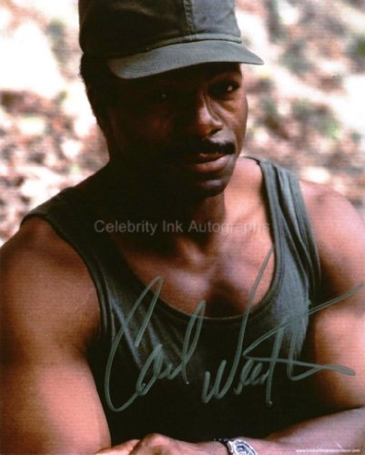 CARL WEATHERS as Major Dillon - Predator Genuine Autograph from Celebrity Ink