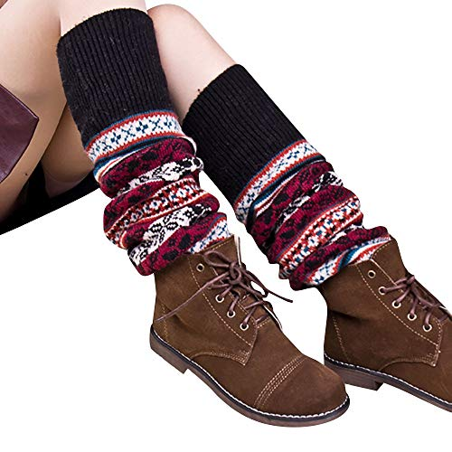 HTDBKDBK Socks Women Winter Cable Knit Over Knee Long Boot Thigh-High Warm Sock Legging Socks Art