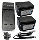 Battery (2-Pack) and Charger Kit for Canon BP-709 BP-718 BP-727 and Canon VIXIA HF R30, HF R32, HF R40, HF R42, HF R50, HF R52, HF R300, HF R400, HF R500, HF M50, HF M52, HF M500 Camcorder and Canon LEGRIA HF R36, HF R37, HF R38, HF R46, HF R48, HF R56, HF R306, HF R406, HF R506, HF M52, HF M56, HF M60, HF M506 HD Camcorder