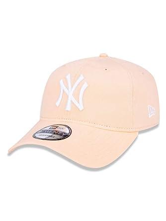 BONE 920 NEW YORK YANKEES MLB ABA CURVA STRAPBACK LARANJA NEW ERA ... 63a453bdbec
