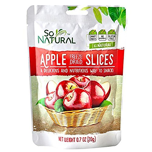 So Natural Freeze Dried Apples, 3 packages of 0.7 Ounces Each