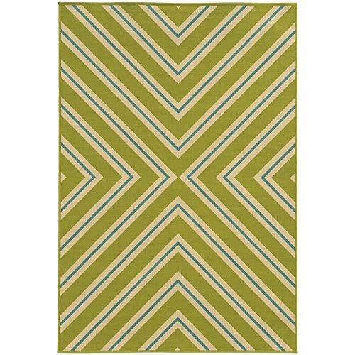 (Oriental Weavers 4589M Riviera Area Rug, 5-Feet 3-Inch by 7-Feet 6-Inch, Green/Ivory)
