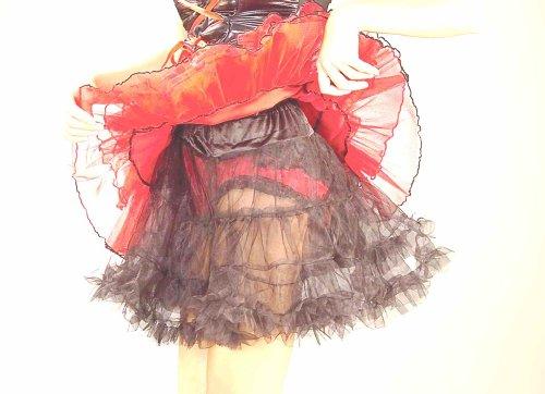 Forum Novelties Women's Adult 19-Inch Crinoline Costume Accessory, Black, ()