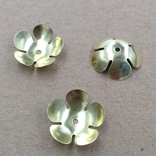 Calvas 16mm Filigree Charms/Pendant Copper with Antique Bronze/Silver Handmade,Hairpin Fallen Petal Parts Vintage Jewelry - (Item Diameter: Silver 100pcs)