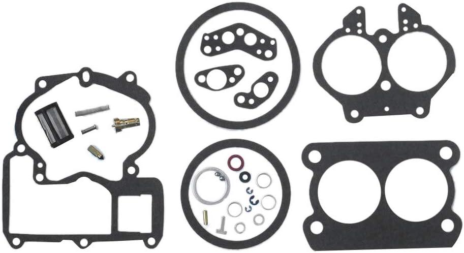 Qii lu El kit de reparaci/ón de reconstrucci/ón del carburador se ajusta a Mercruiser Mercury Marine 3.0L 4.3L 5.0L 5.7L