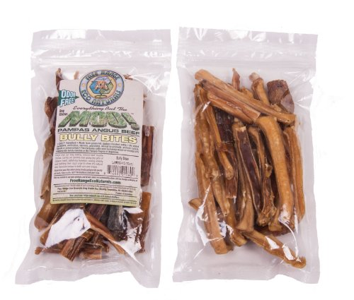 Moo Bully Sticks (Eco Naturals Free Range Odor Free Bully Stick Bites - 10oz by Angus MOO!)